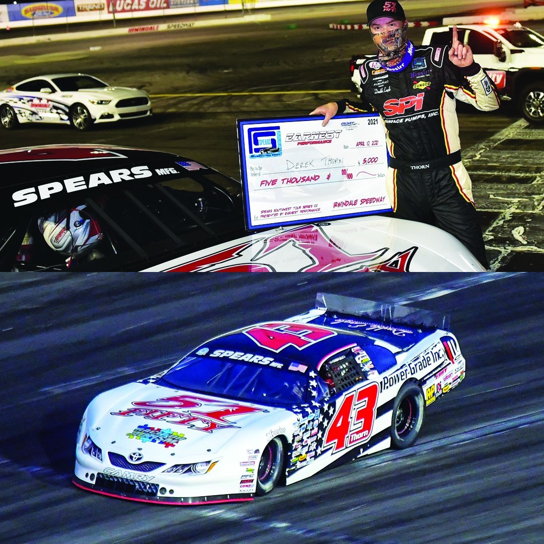 Derek Thorn Gets Another SRL Milestone Win at Irwindale Speedway